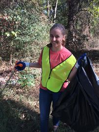Litter cleanup with Keep Durham Beautiful